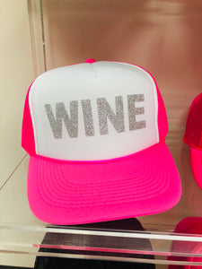 Pink and White Wine Hat