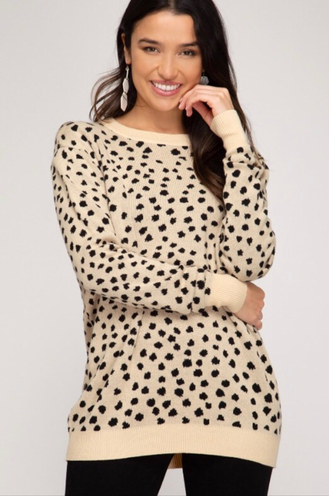 Cream Leopard Sweater