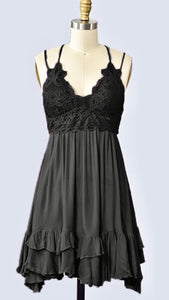 Bralette Lace Dress with Ruffles and Adjustable Straps