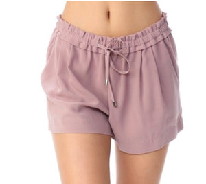 """Take Me Away"" Blush Drawstring Shorts"