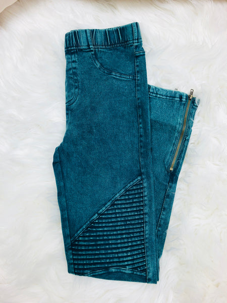 Jade Moto Ankle Jegging with Zipper