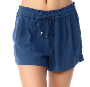 """Take Me Away"" Steel Blue Drawstring Shorts"