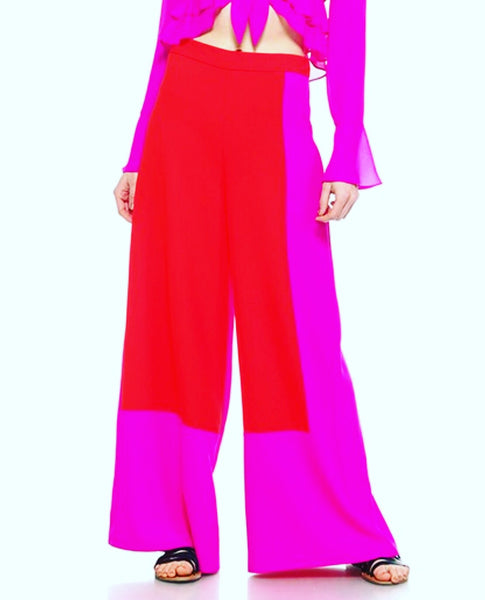 """Paige"" Colorblock Wide Leg Pants"