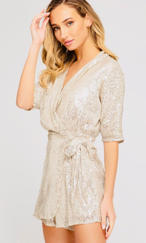 """Let Me Sparkle"" Jumpsuit Romper"