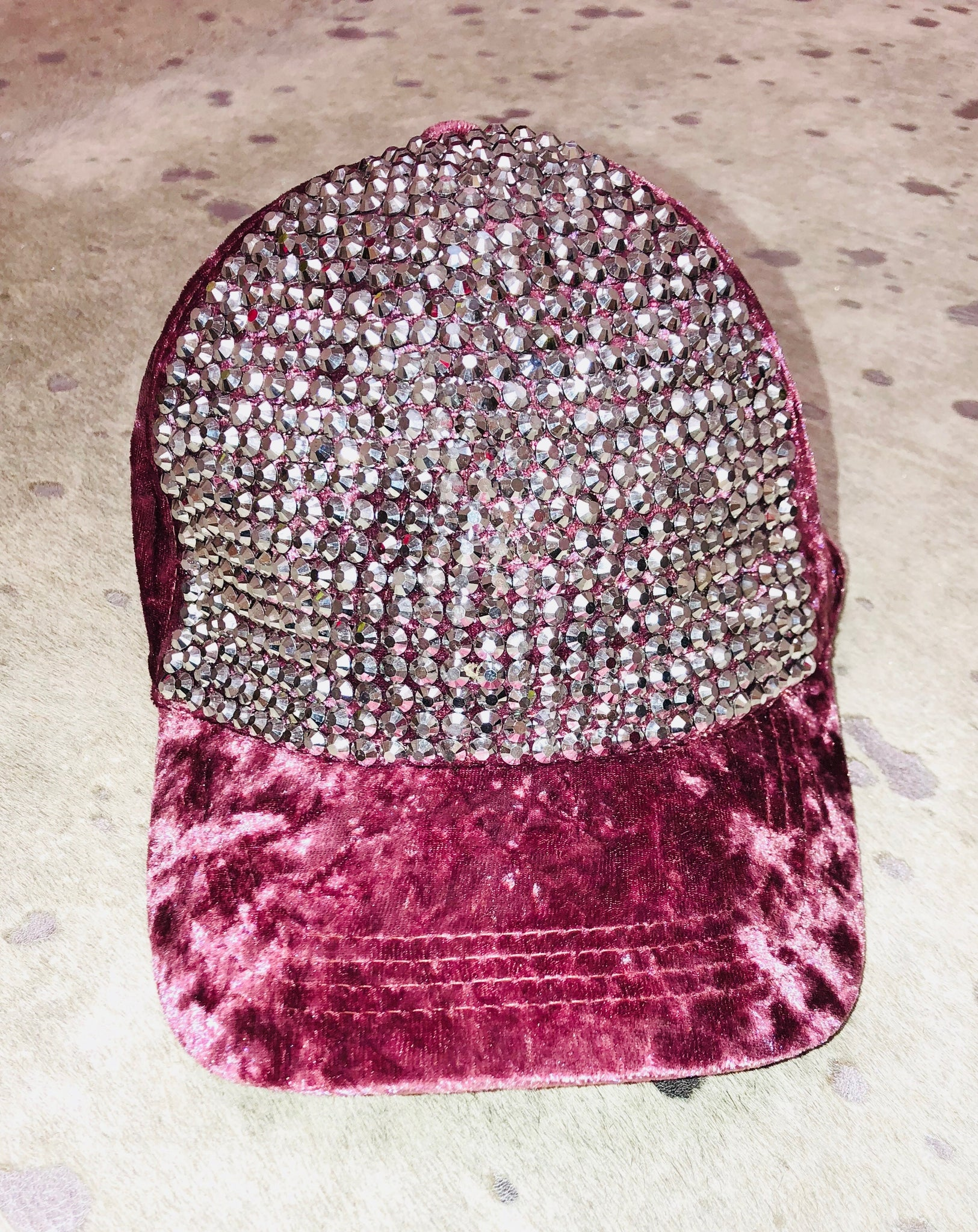 """Velvet Bling"" Baseball Hat"