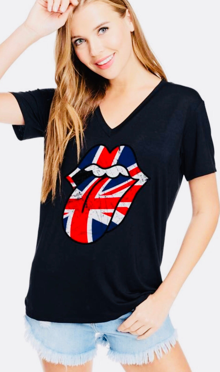 Rolling Stone VNeck Graphic Tee