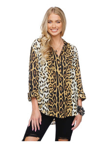 Leopard Button Down Top from Buddy Love
