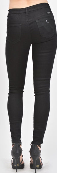 """Date Night"" Black Jeans with Zippers"