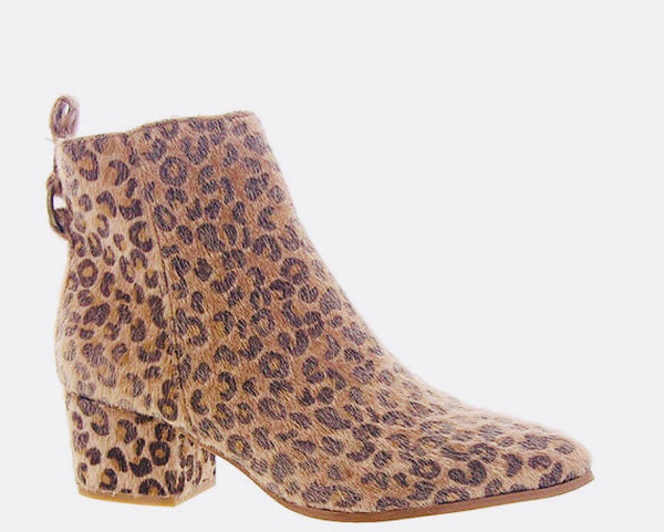 Leopard Hair on Hide Block Heel Bootie