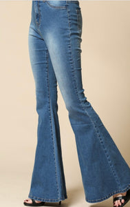 """Kendall"" Mid Rise Flared Bell Bottom Jeans"