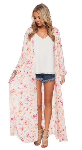 """Water Lily"" Boho Duster"