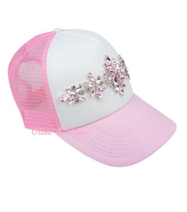 Light Pink and White Trucker Hat