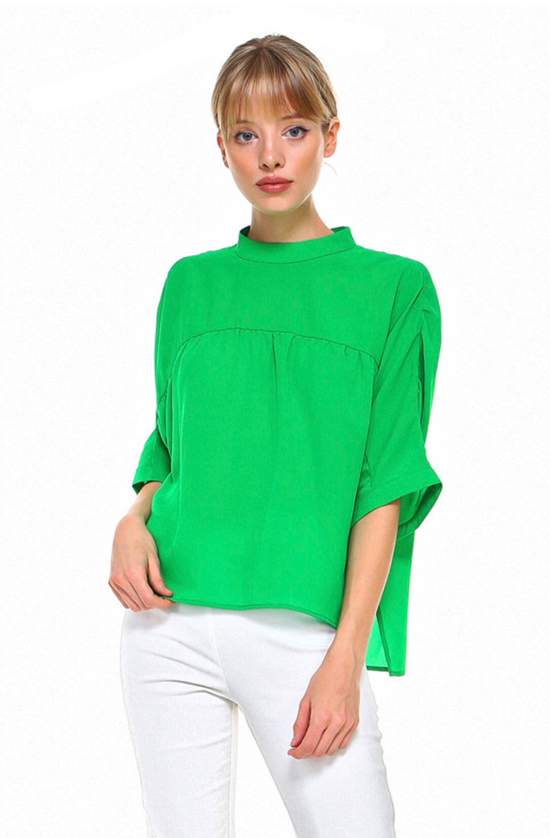 Kelly Green Dress Top