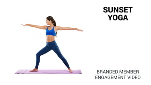 Sunset Yoga Branded Member Engagement Video