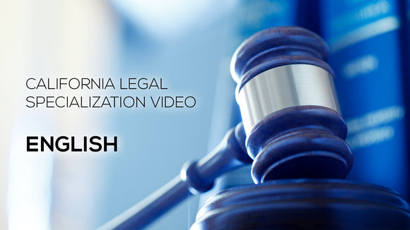 California Legal Specialization Video - English