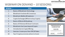 WEBINAR ON DEMAND: 10 SESSIONS FULL BLOCKCHAIN CERTIFICATE
