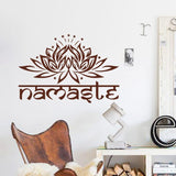 "Marron / 29cm x 43cm Sticker mural ""Namaste"""