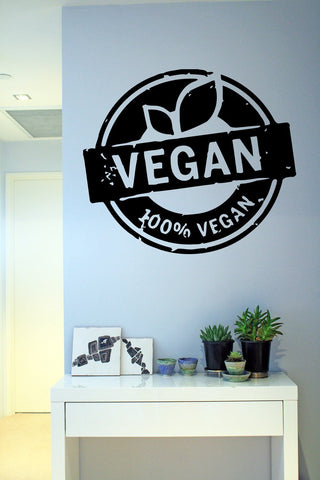 "Sticker ""Vegan, 100% vegan"""