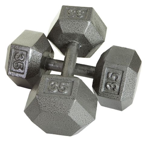 Hex Dumbbells w/ Urethane Encased Heads