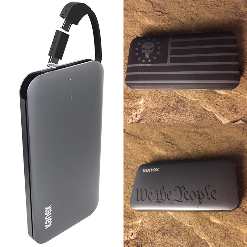 Custom Laser Engraved Battery Pack