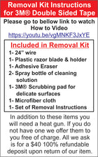 Removal Kit for 3M® Double Sided Tape