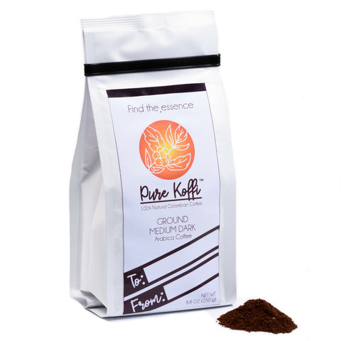 Pure Koffi - 100% Arabica Coffee Beans from Quindio, Colombia - Limited Production Premium Quality Colombian Coffee (8.8 oz - Ground)