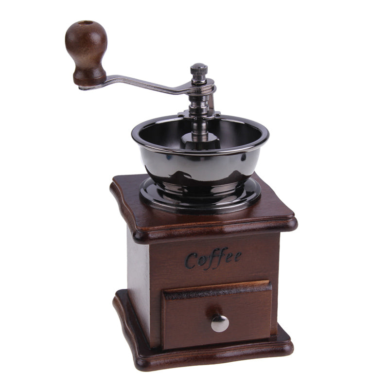 High Quality Manual Coffee Grinder Retro Wood Design Coffee Mill Maker Grinders Coffee Bean Grinder Hand Conical Burr