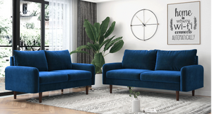 Trendy 3 + 2 Seater sofa (Blue)
