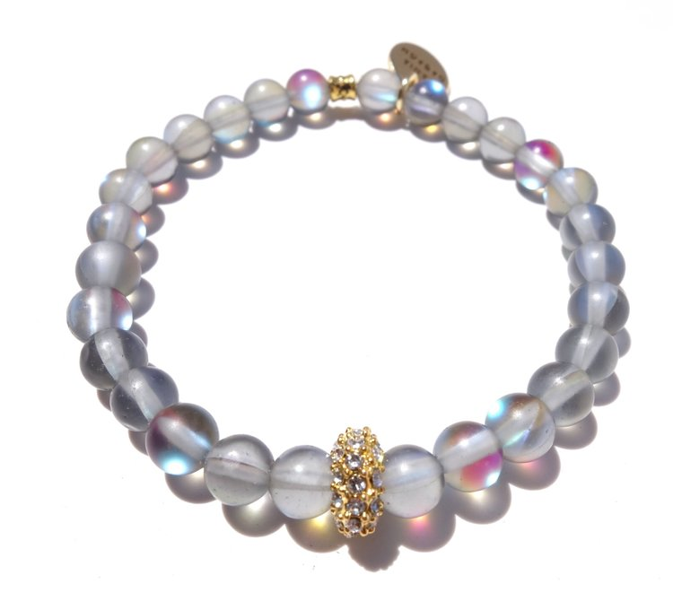 Alex Bracelet - Dark Moonstone / Standard size / Stretch -