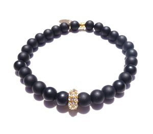 Alex Bracelet - Matte Black / Standard size / Stretch -