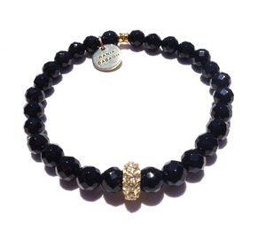 Alex Bracelet - Faceted Black / Standard size / Stretch -