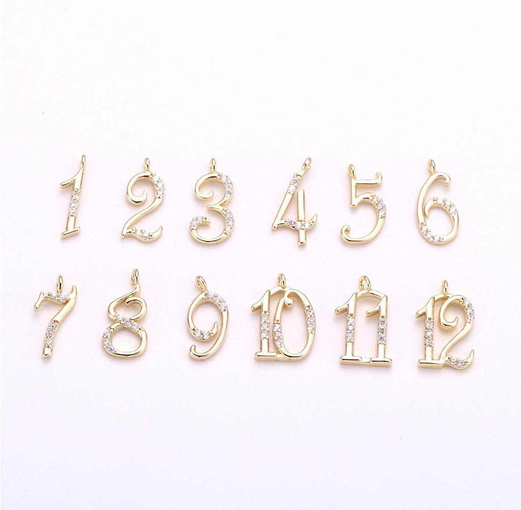 Number Charm - Rania Dabagh Jewelry