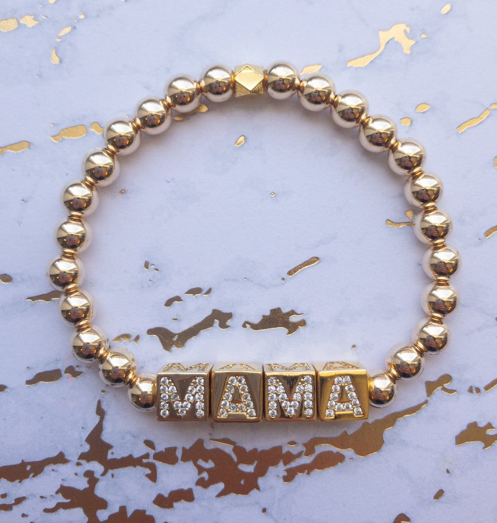 MAMA Gold Filled Bracelet - Rania Dabagh Jewelry
