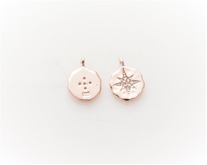 Rose gold north star charm