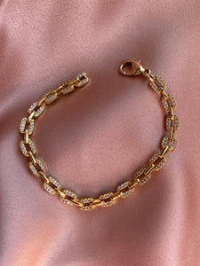 Pave Box Chain Bracelet