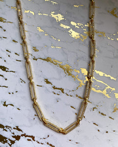 Pave Paperclip Chain Necklace - Rania Dabagh Jewelry