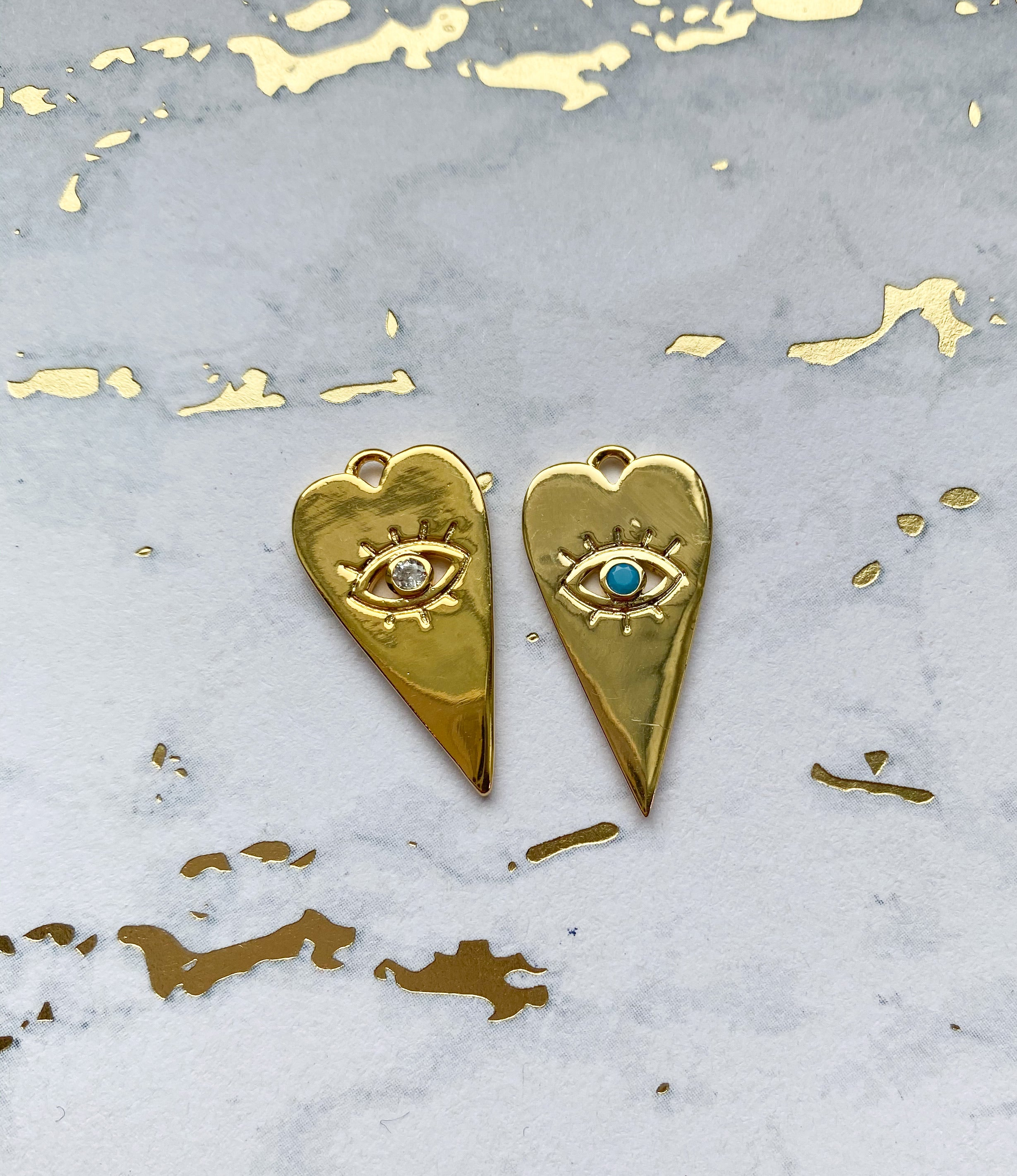 Eye Heart Charm - Rania Dabagh Jewelry