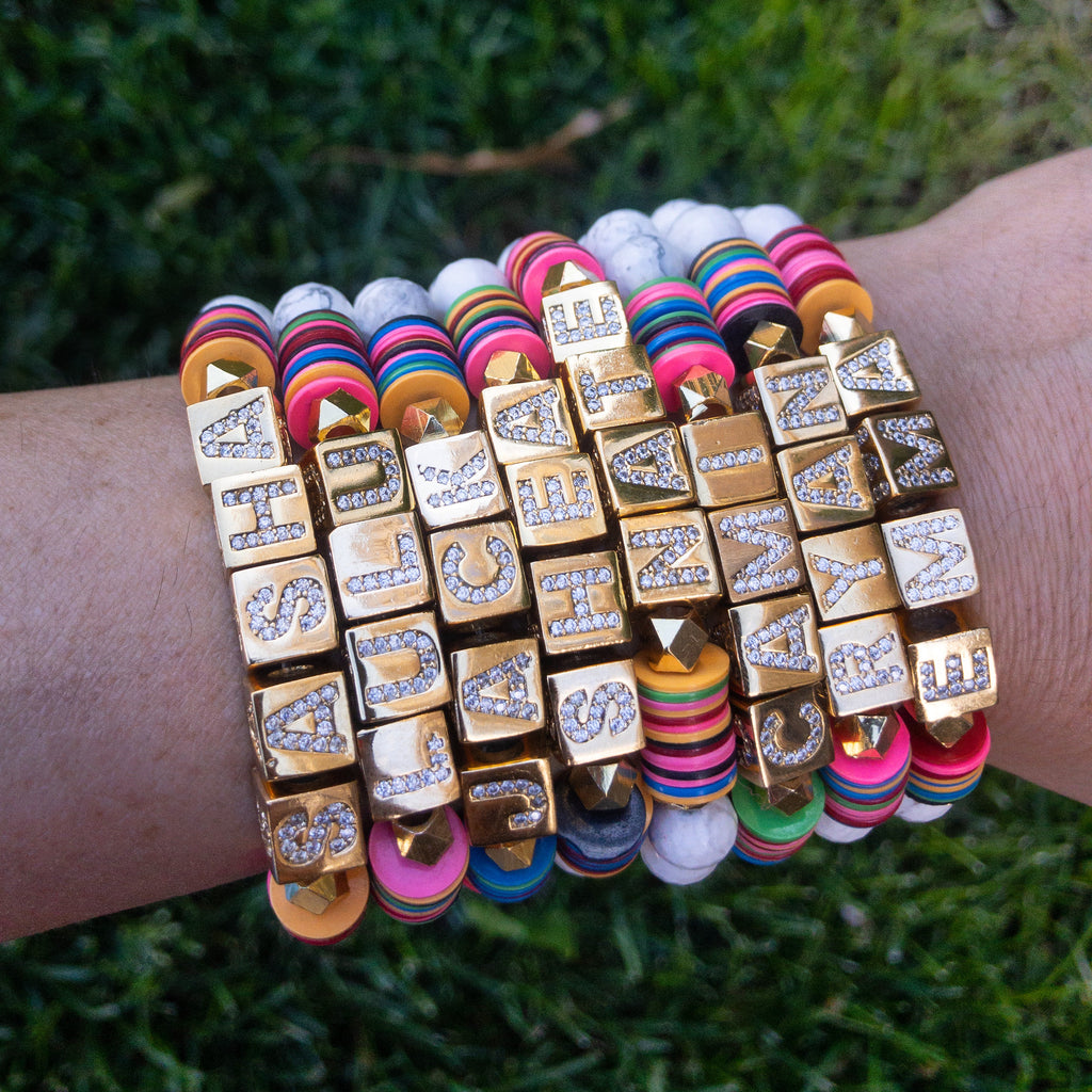 Custom Block Party Bracelet - Rania Dabagh Jewelry