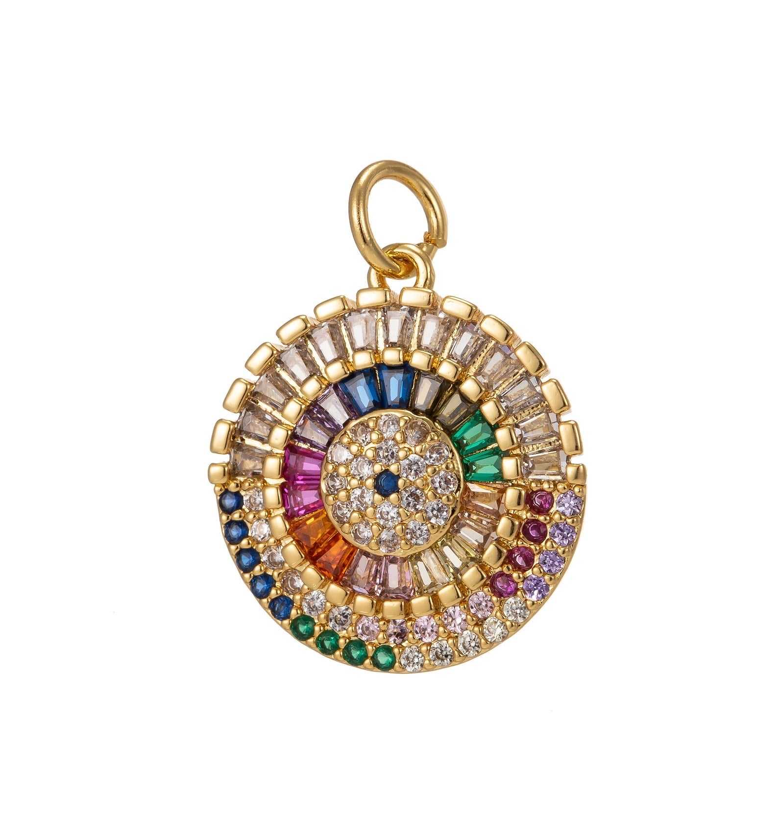 Rainbow Evil Eye Charm - Rania Dabagh Jewelry