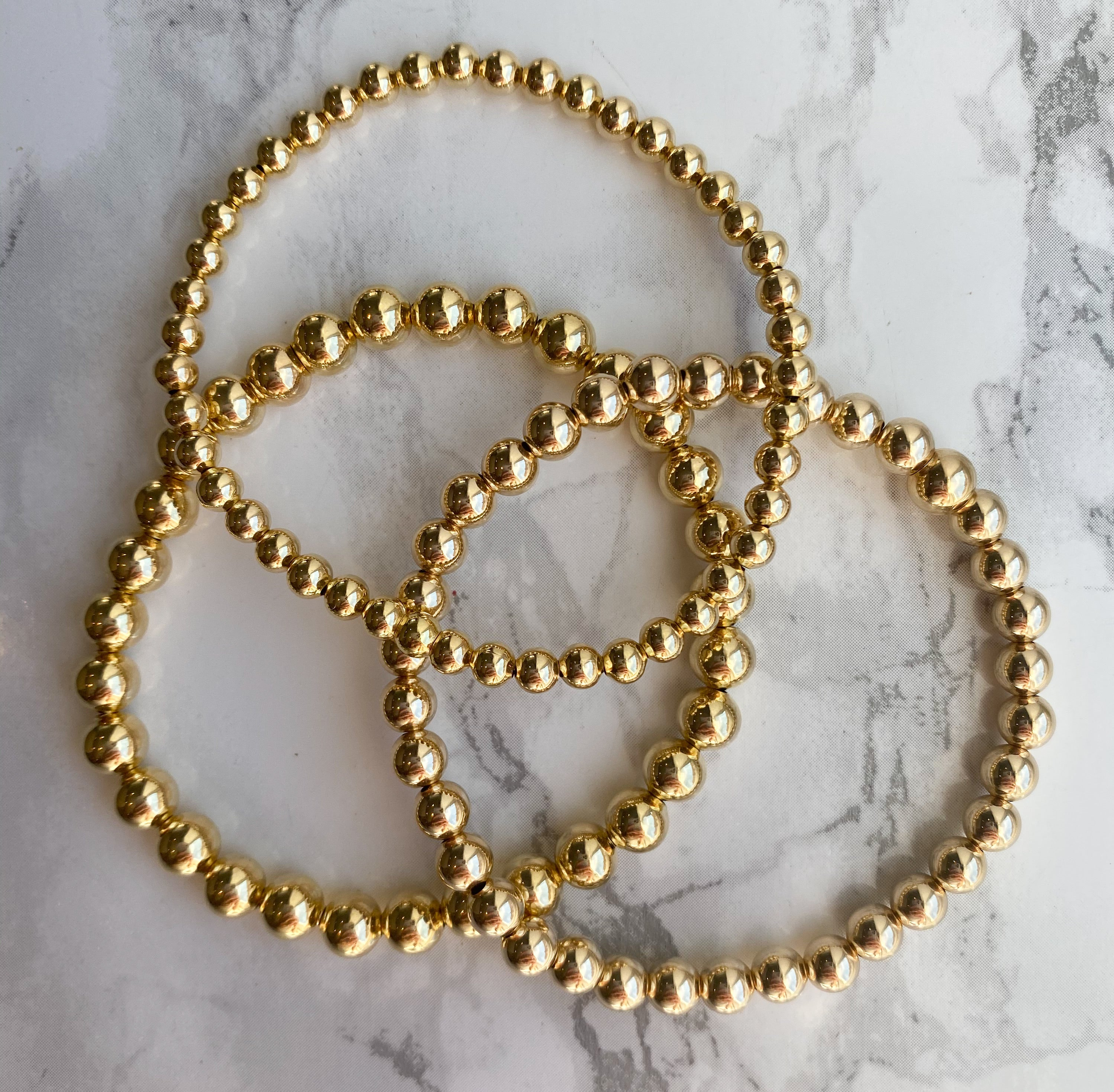 Having A Ball 4mm Gold Filled Bracelet - Rania Dabagh