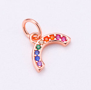 Rainbow Charm Rose Gold - Rania Dabagh Jewelry