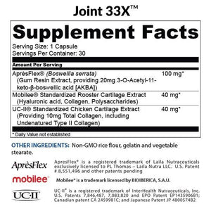Joint 33X™ — Advanced 3-in-1 Joint Health Supplement