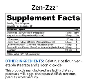 Zen-Zzz Supplement Facts