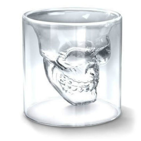 Magic Transparent Glass Skull Mugs