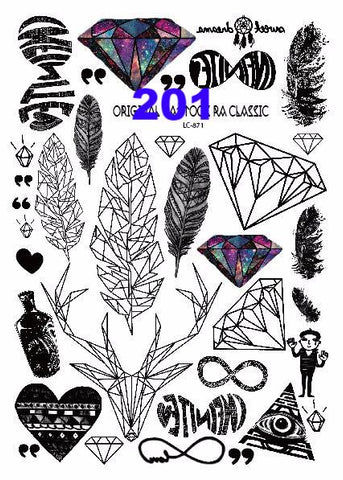 Body Art Temporary Tattoo Stickers
