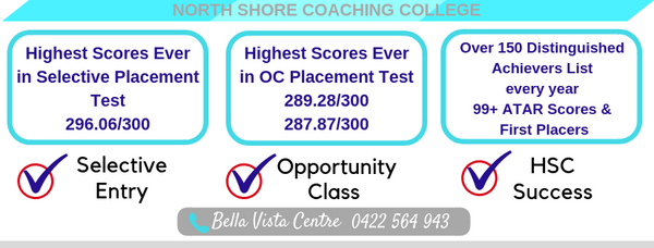 North Shore Coaching College Bella Vista OC Selective