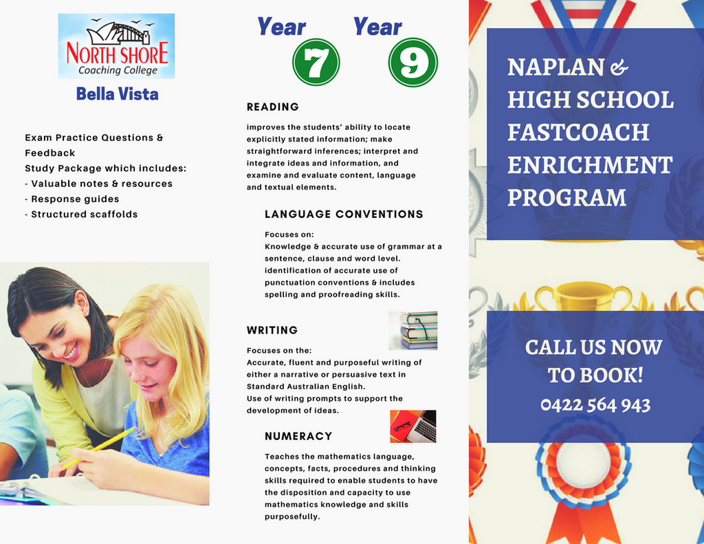 NAPLAN Tutoring North Shore Coaching Bella Vista
