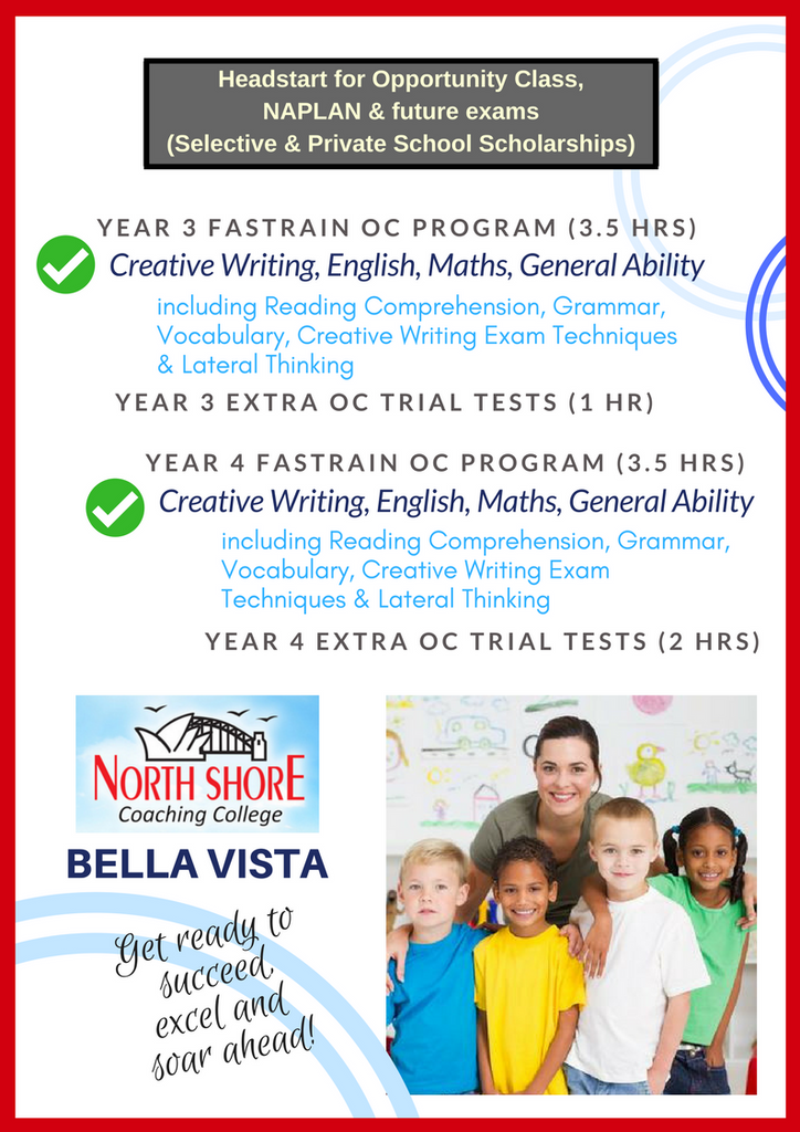 North Shore Coaching Bella Vista Opportunity Class OC Program