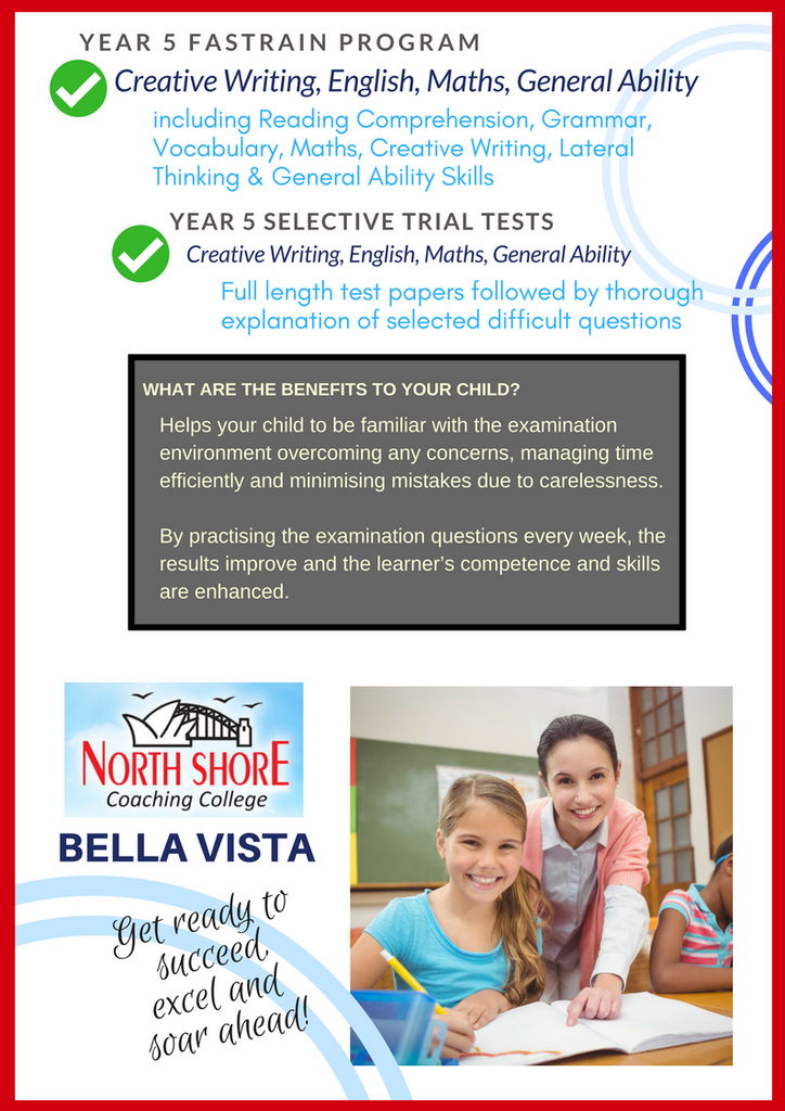 North Shore Coaching Selective Tests Private School Scholarship NAPLAN