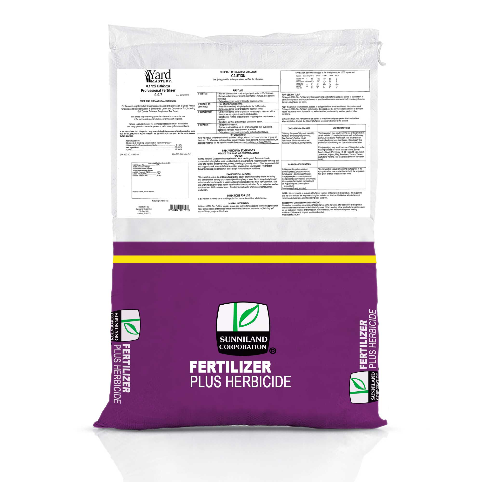 Yard Mastery .172% Dithiopyr Pre-Emergent Herbicide with Fertilizer 0-0-7